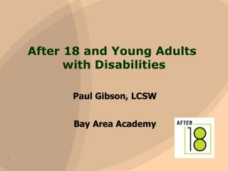 After 18 and  Young Adults  with Disabilities