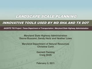 Landscape Scale Planning