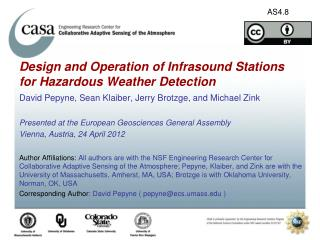 Design and Operation of Infrasound Stations for Hazardous Weather Detection