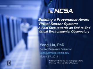 Building a Provenance-Aware  Virtual Sensor System:  A First Step towards an End-to-End Virtual Environmental Observato