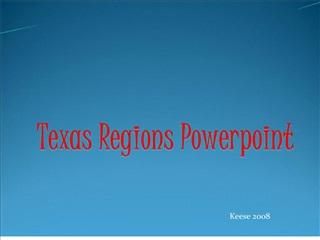 texas regions powerpoint