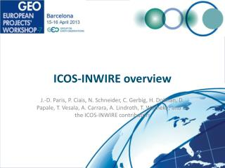 ICOS-INWIRE overview