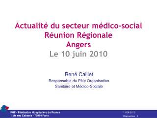 actualit  du secteur m dico-social r union r gionale  angers le 10 juin 2010