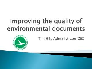 Improving the quality of environmental documents
