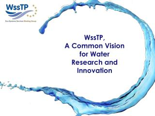 WssTP and WssTP WG objectives Horizon2020 Mission WG Ecosystems services