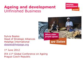 Ageing and development  Unfinished Business