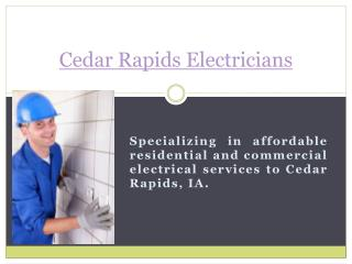 Electricians In Cedar Rapids