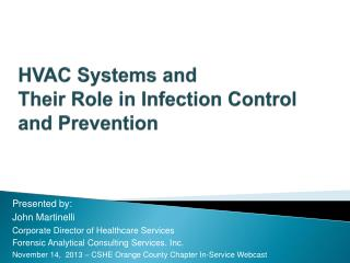 HVAC Systems and  Their Role in Infection Control and Prevention