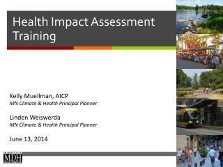 Health Impact Assessment Training