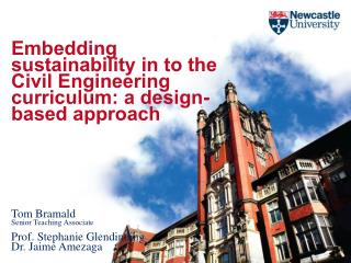 Embedding sustainability in to the Civil Engineering curriculum: a design-based approach  Tom Bramald Senior Teaching A