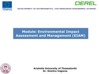 Module: Environmental Impact Assessment and Management (EIAM)