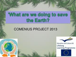 'What are we doing to save  the Earth?