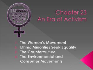 Chapter 23 An Era of Activism