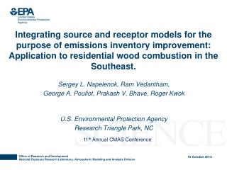 Integrating source and receptor models for the purpose of emissions inventory improvement: Application to residential w