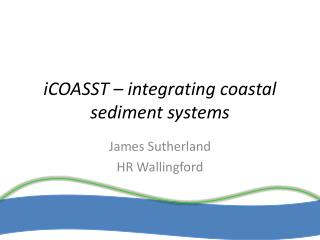 iCOASST � integrating coastal sediment systems