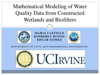 Mathematical Modeling of Water Quality Data from Constructed Wetlands and  Biofilters