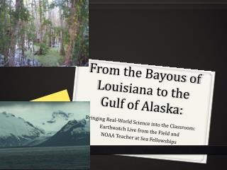 From the Bayous of Louisiana to the Gulf of Alaska: