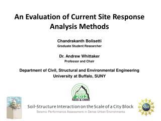 An Evaluation of Current Site Response Analysis Methods
