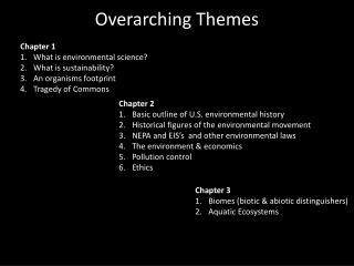 Overarching Themes
