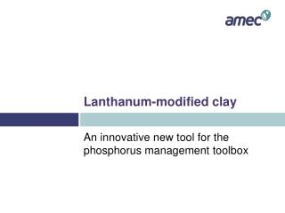 Lanthanum-modified clay