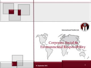 Corporate Social & Environmental Responsibility
