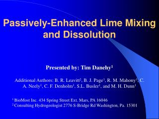 Passively-Enhanced Lime Mixing and Dissolution
