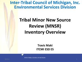 Tribal Minor New Source Review (MNSR) Inventory Overview