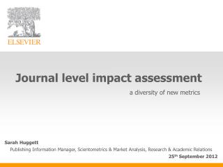 Journal level impact assessment