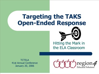 targeting the taks  open-ended response