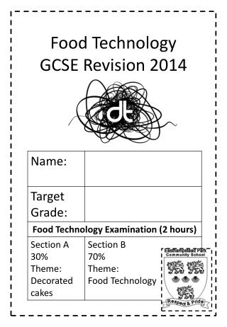 Food Technology GCSE Revision 2014