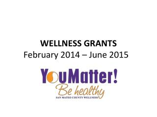WELLNESS GRANTS February 2014 – June 2015
