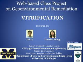 Web-based Class Project on Geoenvironmental Remediation