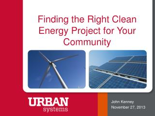 Finding the Right Clean Energy Project for Your Community