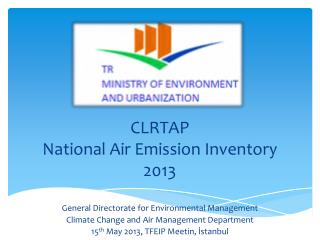 CLRTAP National Air Emission  Inventory 2013