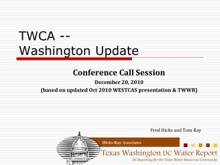 TWCA -- Washington Update