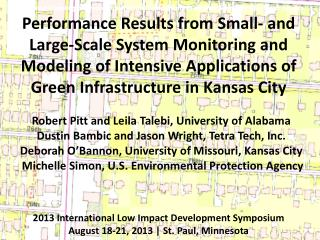 Performance Results from Small- and Large-Scale System Monitoring and Modeling of Intensive Applications of Green Infra