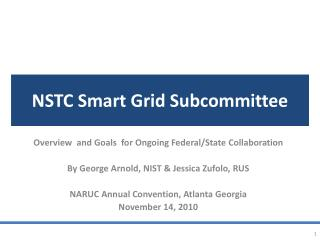 NSTC Smart Grid Subcommittee