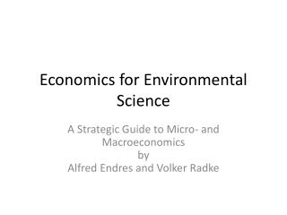 Economics  for  Environmental Science
