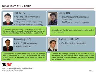 NEGA Team  of  TU Berlin