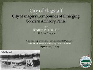 City of Flagstaff City Manager's Compounds of Emerging Concern Advisory Panel