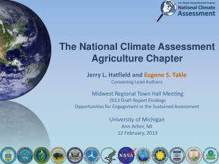 The National Climate Assessment Agriculture Chapter