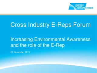 Cross Industry E-Reps Forum