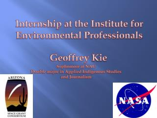 Internship at the Institute for Environmental Professionals