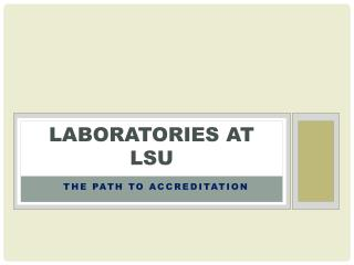 Laboratories at LSU