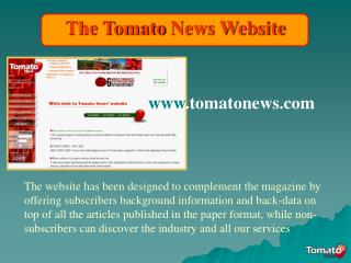 How to surf the Tomato News Website...