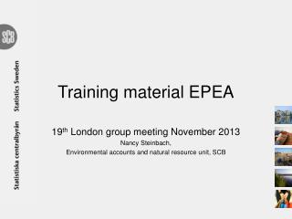 Training  material EPEA