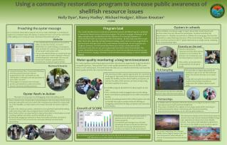 Using a community restoration program to increase public awareness of shellfish resource issues