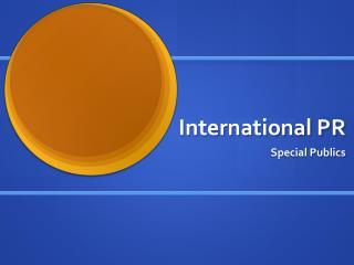 International PR