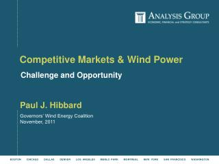 Competitive Markets & Wind Power