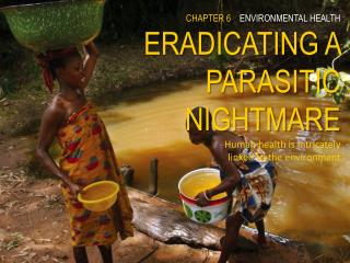CHAPTER 6 ENVIRONMENTAL HEALTH ERADICATING A PARASITIC NIGHTMARE Human health is intricately  linked to the environment